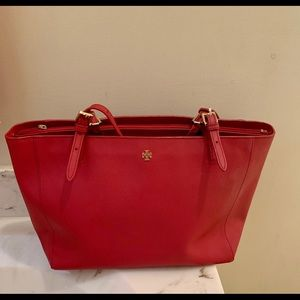 Red Tory Burch Robinson Tote